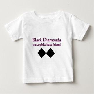 黒ダイヤは女の子の親友です ベビーTシャツ