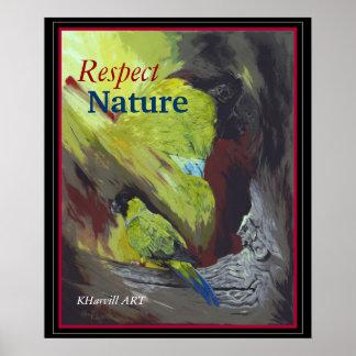 黒フード付きのインコの点の自然ポスター ポスター