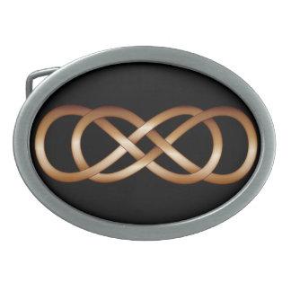 黒ベルトの留め金の青銅の二重無限 卵形バックル