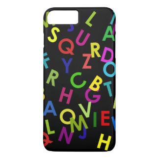 黒上の多彩なアルファベットの手紙 iPhone 8 PLUS/7 PLUSケース