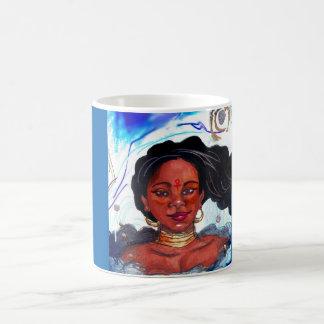 黒人女性11のozのマグ コーヒーマグカップ