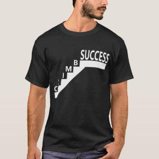 黒人男性のTシャツの上昇のステップ階段成功 Tシャツ