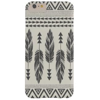 黒及びクリームの種族の羽のiPhone 6のプラスの場合 Barely There iPhone 6 Plus ケース