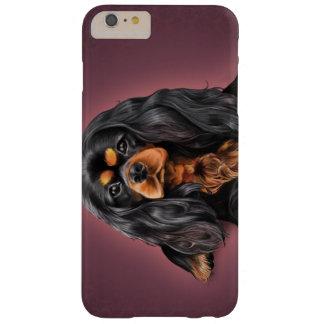黒及びチャールズIphone Caseタンの無頓着な王 Barely There iPhone 6 Plus ケース