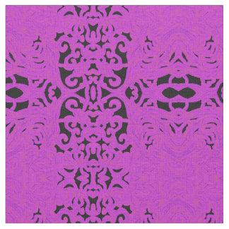 黒及びピンクの綿の生地技術パターン ファブリック