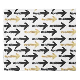 黒及び金ゴールドの矢の羽毛布団カバー 掛け布団カバー