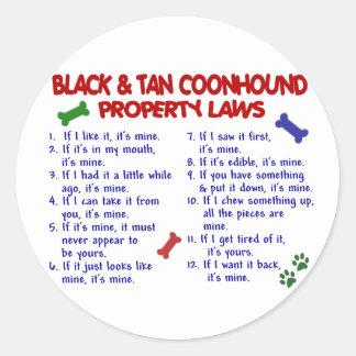 黒及びTANのCOONHOUNDの特性の法律2 ラウンドシール