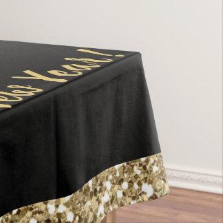 黒大晦日のパーティーのテーブルクロスのか金ゴールドの輝き テーブルクロス