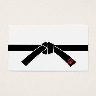 黒帯、武道の黒帯、武道 名刺