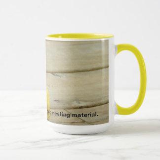 黒帽子の《鳥》アメリカゴガラのコーヒー・マグ マグカップ