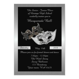 、黒年長後輩、プロム仮面舞踏会のマスク カード
