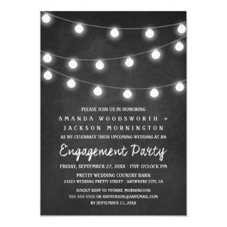黒板およびライト婚約パーティの招待状 12.7 X 17.8 インビテーションカード