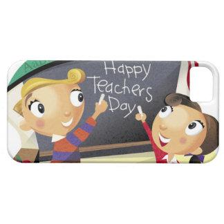 黒板で指している子供 iPhone SE/5/5s ケース
