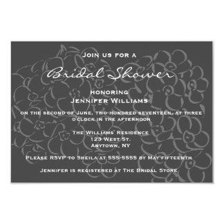 黒板によってはブライダルシャワー招待状が開花します カード