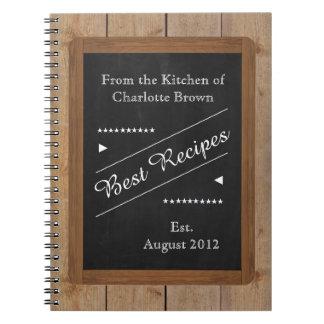 黒板のあなたの名前のレシピのノート ノートブック