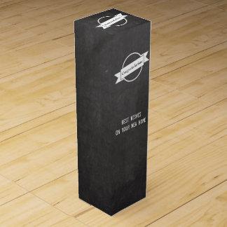 黒板のお祝いのギフトのワイン箱 ワイン ギフト包装