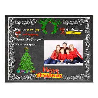 黒板のクリスマス ポストカード