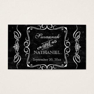 黒板のスタイルの素朴な渦巻はメッセージカードをつなぎます 名刺