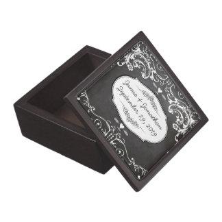 黒板のタイポグラフィの結婚式 ギフトボックス