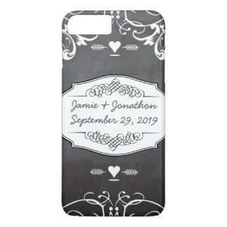黒板のタイポグラフィの結婚式 iPhone 8 PLUS/7 PLUSケース