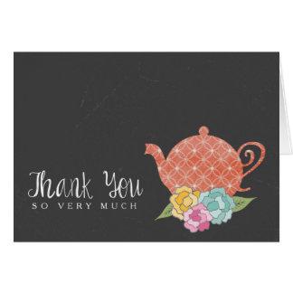 黒板のティーポットはメッセージカード感謝していしています カード