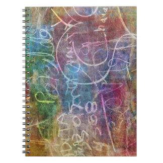 黒板のデザインの写真のノート ノートブック
