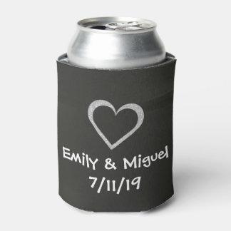 黒板のハートの結婚披露宴の好意の飲み物カバー 缶クーラー