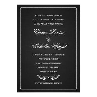 黒板のフォーマルなタイポグラフィの結婚式招待状 カード