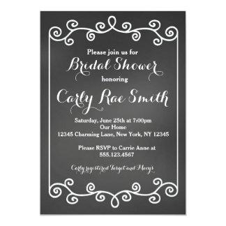 黒板のブライダルシャワーの招待状 カード