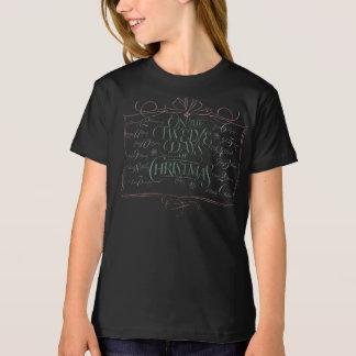 黒板のレタリング「12日のクリスマス」のチョーク Tシャツ
