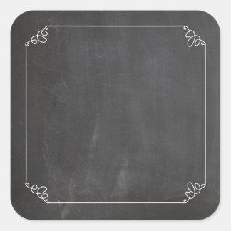黒板のヴィンテージの白い華麗さフレームはカスタマイズ スクエアシール
