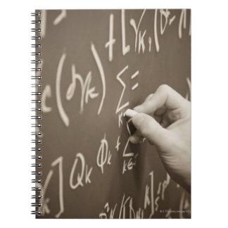 黒板の人の印刷の数学の同等化 ノートブック