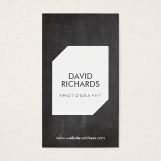 黒板の写真のロゴのカメラマンの名刺 名刺