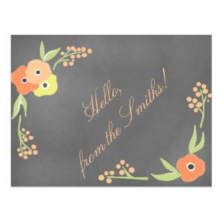 黒板の刺激を受けたな花の静止した ポストカード