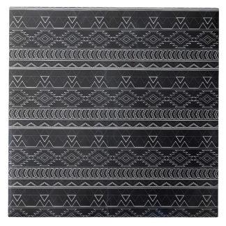 黒板の効果のアステカな種族は縞で飾ります タイル