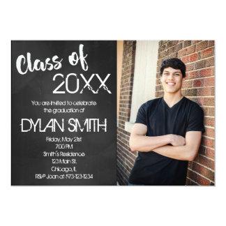 黒板の卒業のパーティの招待状 カード
