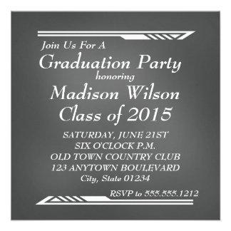 黒板の卒業の招待状 13.3 スクエアインビテーションカード