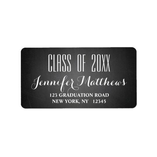 黒板の原稿 の卒業の宛名ラベル ラベル