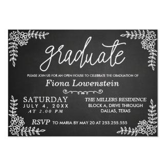 黒板の原稿|の花柄|のオープンハウスの卒業 カード