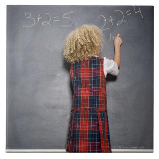黒板の女の子(6-7)の執筆に教育して下さい、 タイル