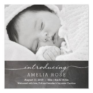 黒板の完全な写真の赤ん坊の発表 マグネットカード