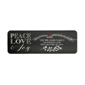 黒板の平和愛喜びの休日 ラベル