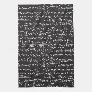 黒板の数学の同等化 キッチンタオル