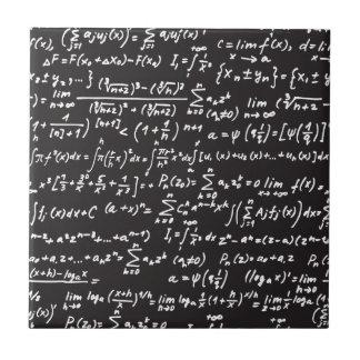 黒板の数学の同等化 タイル