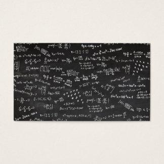 黒板の数学の授業料 名刺