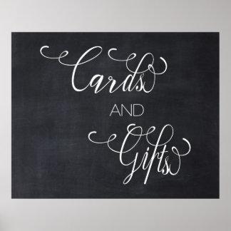 黒板の書道は印を結婚するギフトを梳きます ポスター