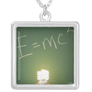 黒板の相対性理論 シルバープレートネックレス