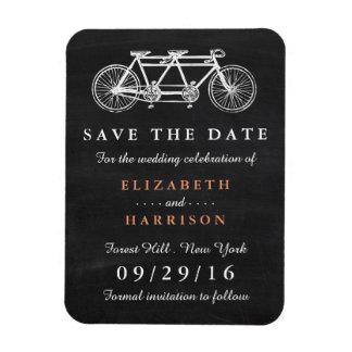 黒板の結婚式の保存のタンデム自転車日付 マグネット