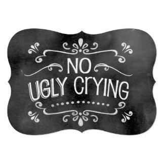 黒板の結婚式の印: 醜い泣き叫び無し 12.7 X 17.8 インビテーションカード