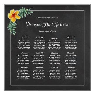 黒板の結婚式の座席の図表ポスター ポスター